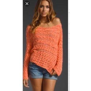 Free people open knit marigold sweater